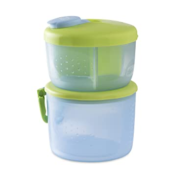 Chicco Easy Meal - Dispensador 2 en 1 de leche en polvo y/o comida, 300ml, 0m+: Amazon.es: Bebé