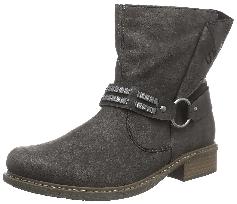 Rieker womens zipper boots grey