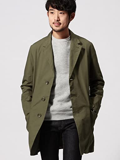 Broadcloth Chesterfield Coat 11-19-0517-730: Olive Drab