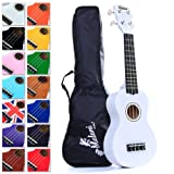 Best White Soprano Ukulele with Bag, Great Fun for Adult Beginners and Children LOVE Ukuleles (the #1 Music Instrument) with FREE eBook and 'String Stretching' Guide to Get You Enjoying the Uke FAST!