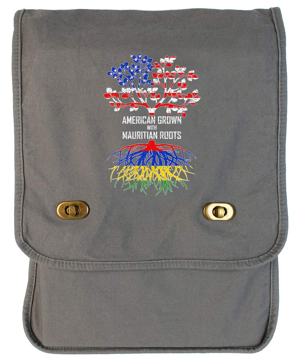 Tenacitee American Grown with Mauritian Roots Navy Brushed Canvas Messenger Bag