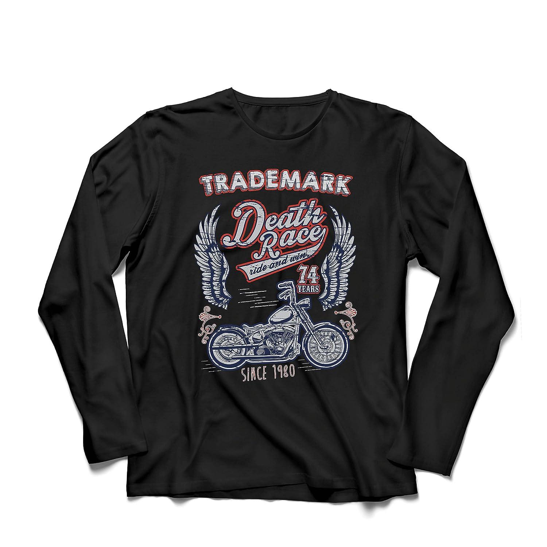 lepni.me Camiseta de Manga Larga para Hombre Carrera de la Muerte - Andar y Ganar, Motocicleta Retro, Moto Clásica de la Vendimia: Amazon.es: Ropa y ...