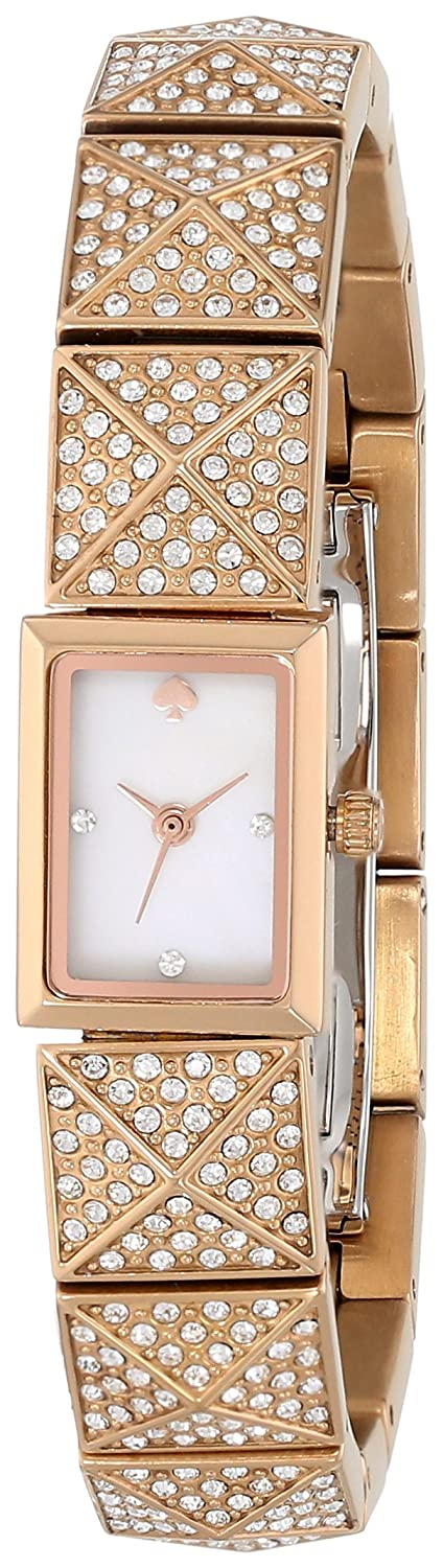 kate spade new york Women's 1YRU0345 Pave Rose Gold Cobble Watch