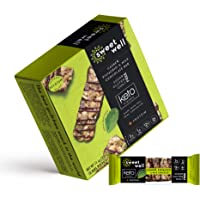 Sweetwell Cashew, Pistachio, and Milk Chocolate Snack Bars, Low-Carb, Keto-Friendly, Sweetened with Stevia (10-Pack)