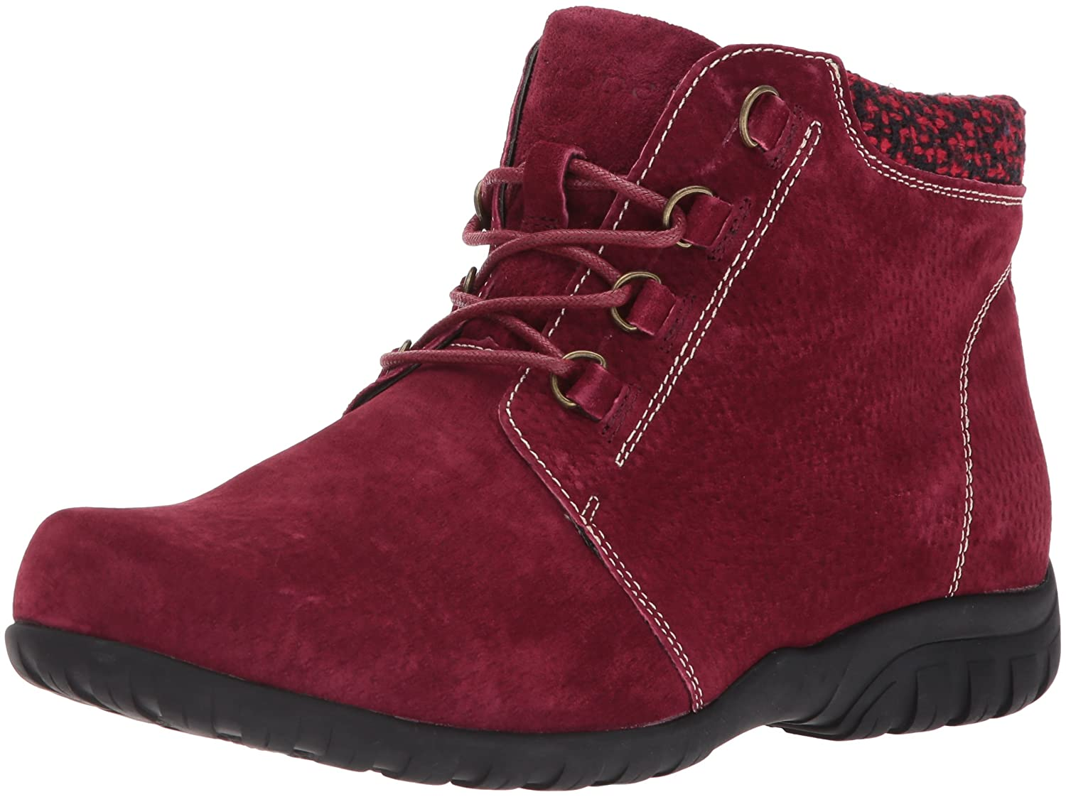 Propet Women's Delaney Ankle Bootie B06XRP22YV 9 4E US|Dark Red