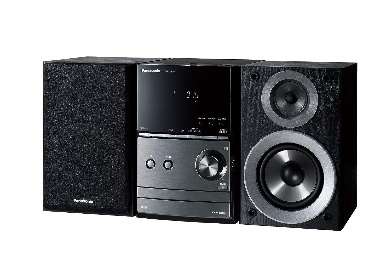 パナソニック CDステレオシステム ブラック SC-PM500-K B005KQ0VEO
