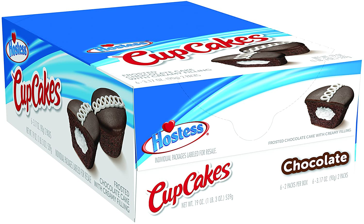 Hostess Cupcakes, Chocolate, 3.17 Ounce, 6 Count