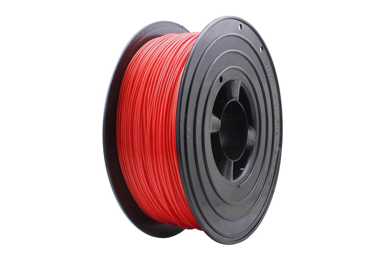 3D Filament 1kg B-Ware Filament Rolle in verschiedenen Farben Rot Gold Silber Grün Blau Braun Lila Violett Beige Transparent Gelb Orange Schwarz Weiß (Rot (B-Ware))