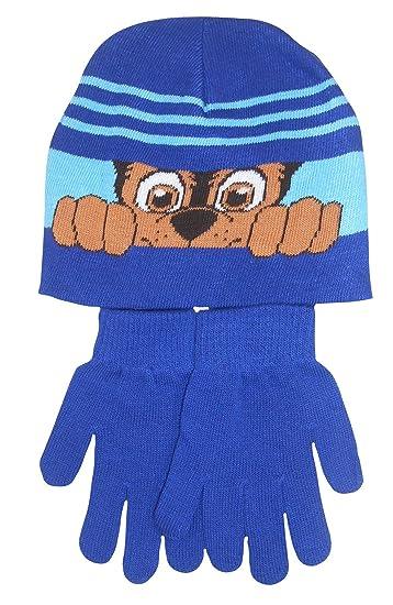 Amazon.com  Paw Patrol Chase Boys Hat   Gloves Set  Clothing 16958aa9ed5