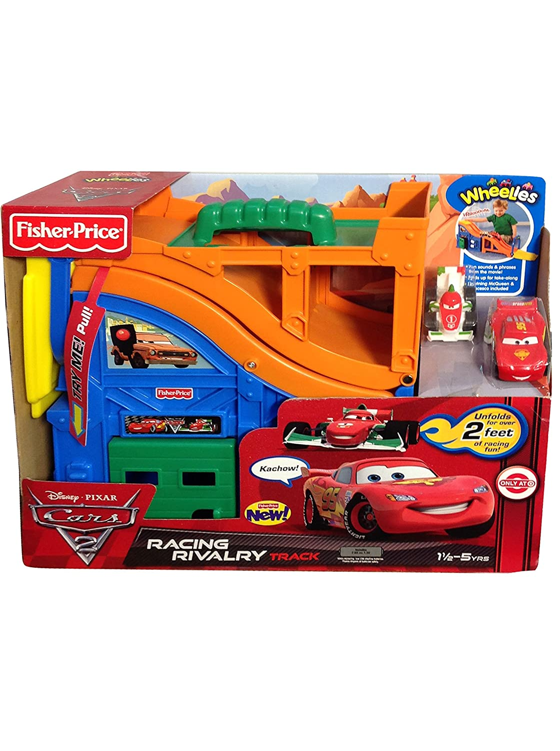 Amazon Com Fisher Price Disney Cars Racing Rivalry Track Playset