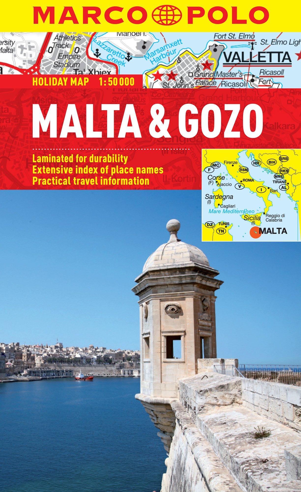 Malta Gozo Marco Polo Holiday Map Marco Polo Holiday Maps - Malta map