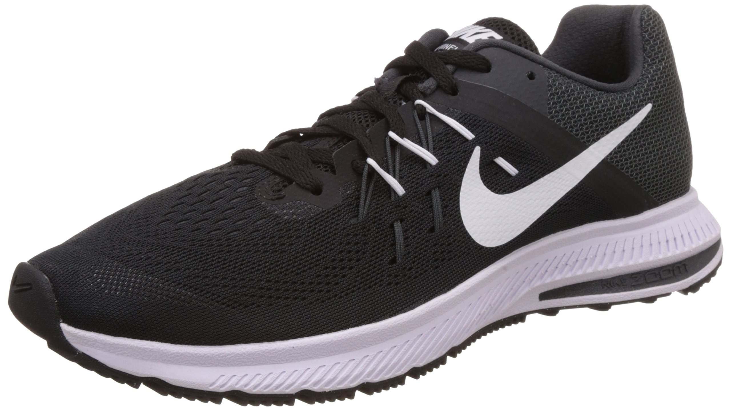 newest 868ac 2c7bb Galleon - Nike Mens Zoom Winflo 2 Black White Anthracite Running Shoe 8.5  Men US