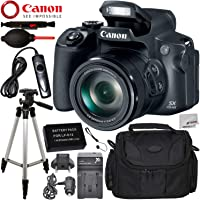 Canon PowerShot SX70 HS Digital Camera with Advanced Accessory Bundle – Includes: Extended Life Replacement Battery (LP-E12) + AC/DC Rapid Home and Travel Charger + MORE - International Version (No Warranty)