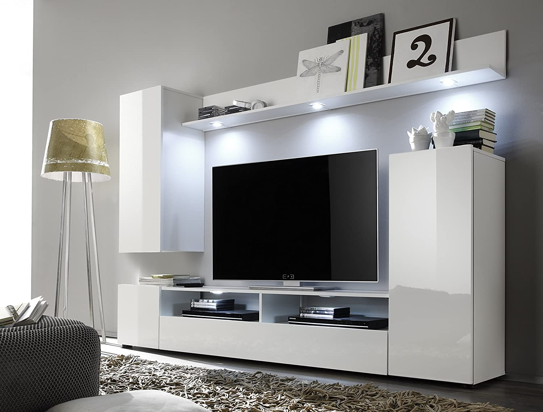 Trendteam smart living wohnzimmer anbauwand wohnwand dos 208 x 165