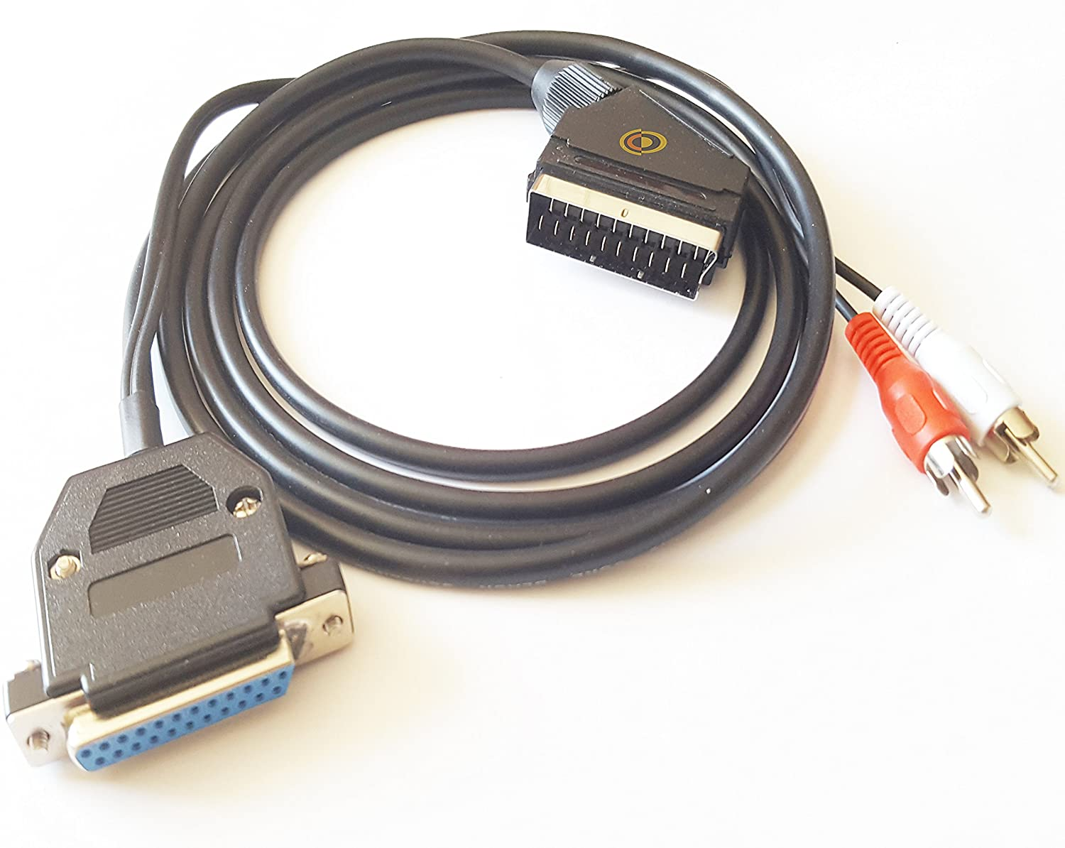 Commodore Amiga RGB 2 Metre Scart Cable with Stereo Audio by CoolNovelties