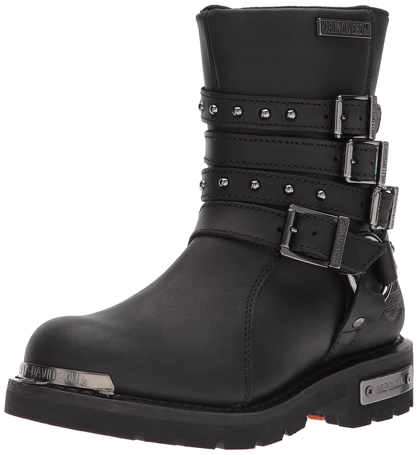 f7058e121cf0 Amazon.com  Harley-Davidson Women s Eddington 7-Inch Black Motorcycle Boots  D84013  Harley-Davidson  Shoes