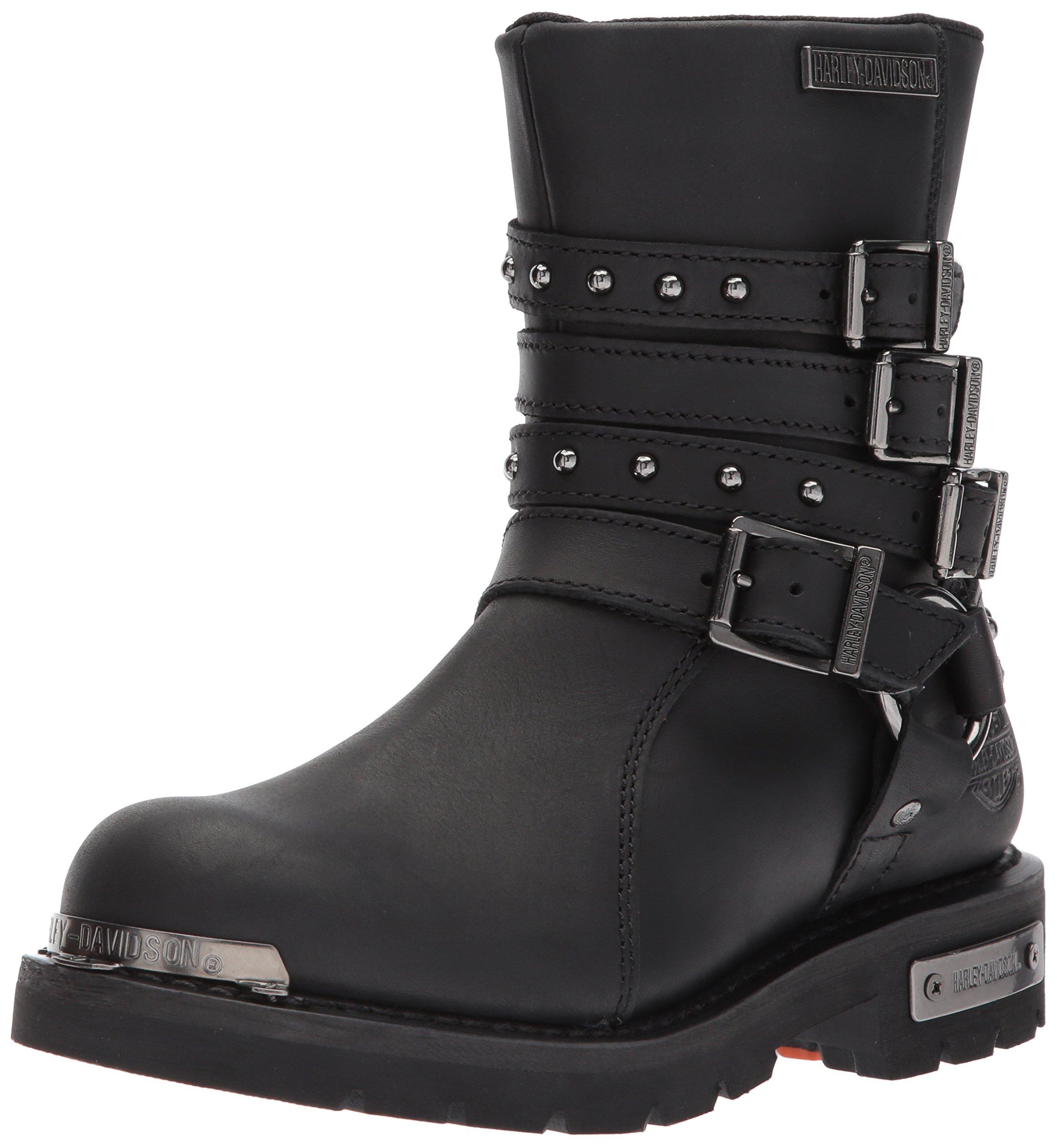 Harley-Davidson Women's Eddington Work Boot, Black, 9 M US