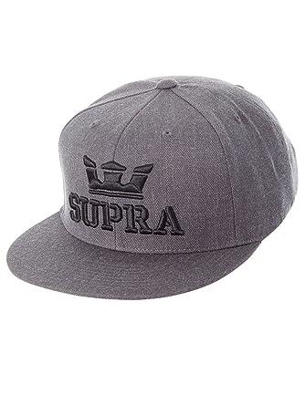 Supra Men Caps Snapback Cap Above Grey Adjustable  Amazon.co.uk  Clothing c9b223f9a21d