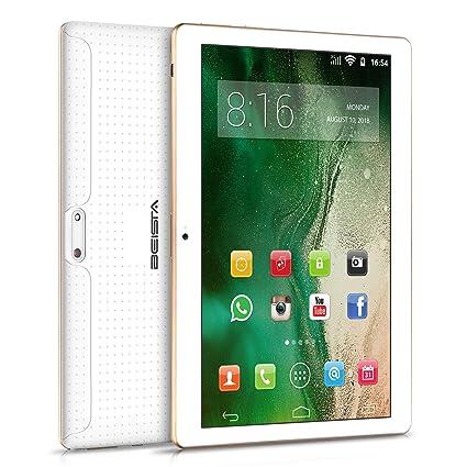 Tablets 10 Pulgadas BEISTA-(Android 7.0,WiFi,3G Tablet,HD IPS,Quad Core,2GB RAM,32GB de Memoria Interna,Soporte para Servicios de Google/Doble ...