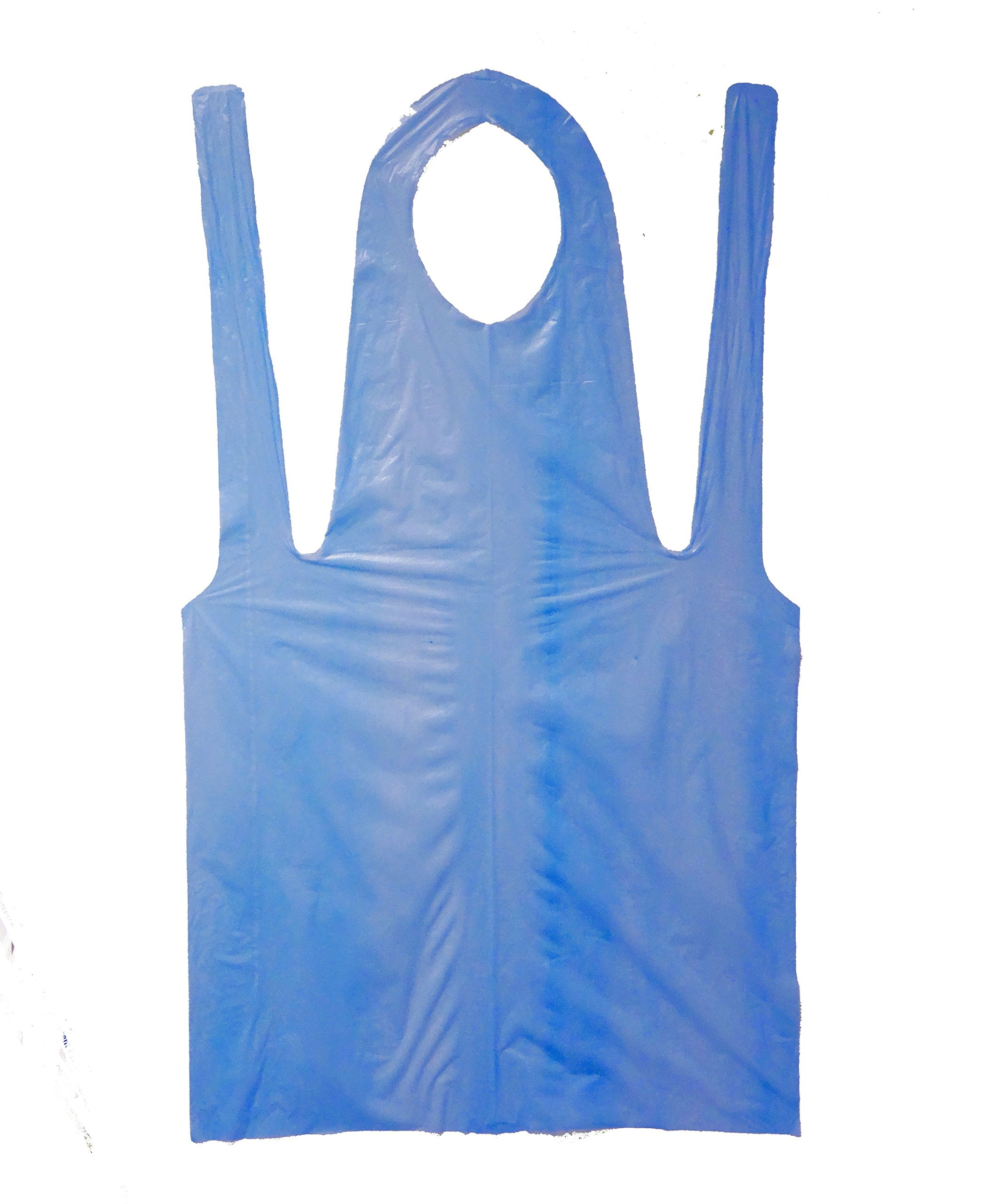 Shield-Safety 28'' X 46'' 2 Mil Blue Disposable Poly Latex Free Apron, 300 Count