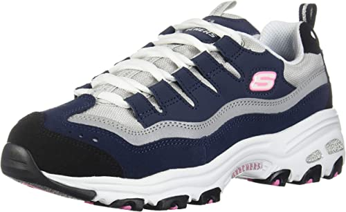 Skechers Damen Sneaker D´Lites Sure Thing WeißRosa