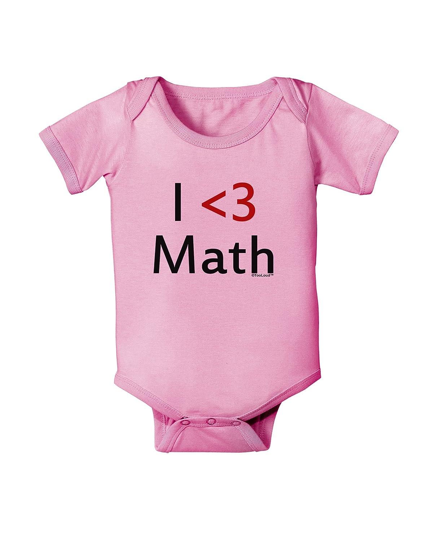 TooLoud I Heart Math Baby Romper Bodysuit