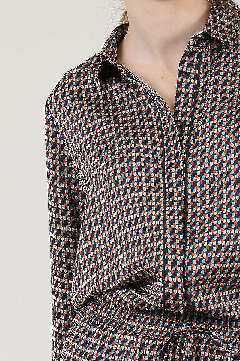 MOLLY BRACKEN Camisa Estampada Fondo Marino Large: Amazon.es ...