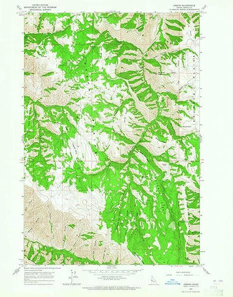 Amazon.com : YellowMaps Joseph ID topo map, 1:24000 Scale ...