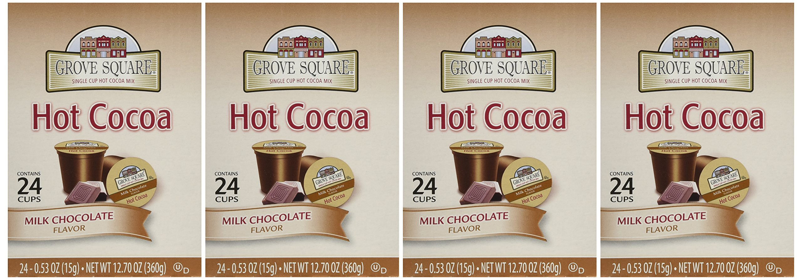 Grove Square Milk Chocolate Hot Cocoa 96 Count by Grove Square