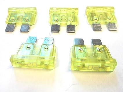 10 X Flachstecksicherung Ato Sicherung 20a 32v Gelb Gewerbe Industrie Wissenschaft