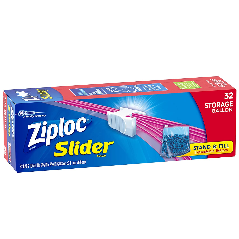 Ziploc Slider Storage Bags Gallon Size 96 Count Stand