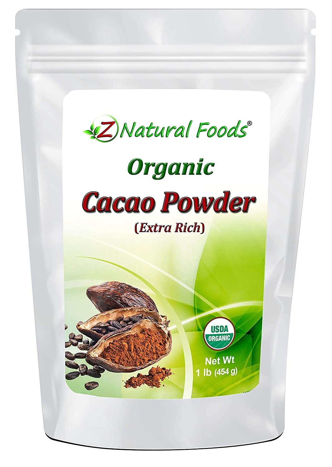 Premium Organic Cacao Powder - Extra Rich & Incredibly Flavorful - Grown, Dried, and Cold Pressed In The Dominican Republic - 100% Pure, Vegan, Non GMO, Gluten Free, Kosher - 1 lb