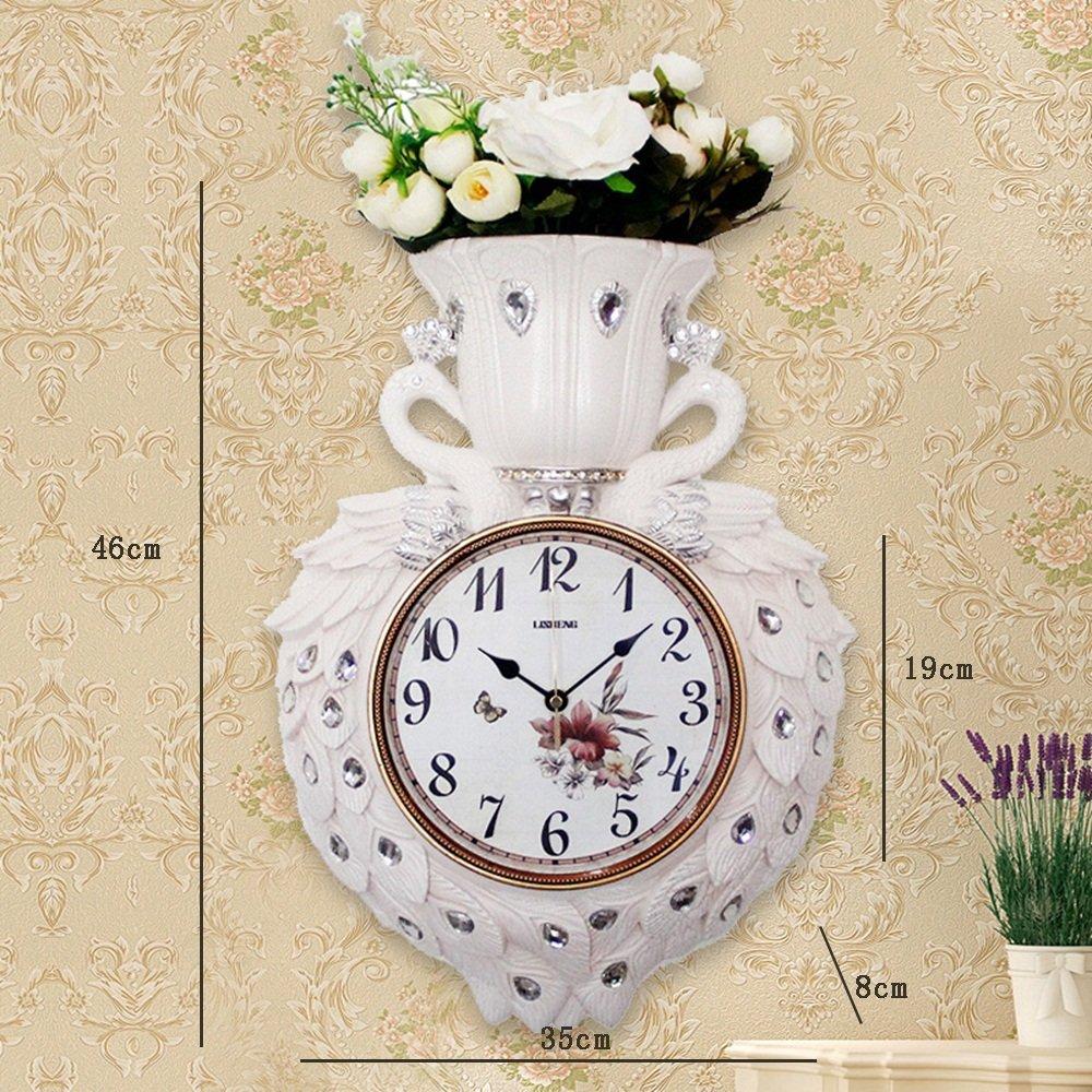 ALUPヨーロッパスタイルのABSプラスチッククリエイティブミュート花の壁時計/フラワーラック/壁のペンダント (色 : #3, サイズ さいず : 46*35cm) B07F3N6PJ3#3 46*35cm