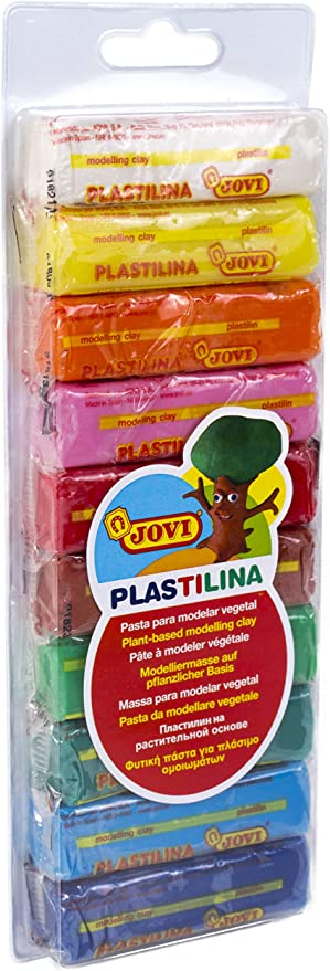 Set of 6 Colors Jovi Plastilina Reusable Non-Drying Modeling Clay; .5 oz Perfect for Arts and Crafts Projects Rolls