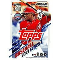 $33 » Topps 2021 Series 1 Baseball Trading Card BLASTER Box with EXCLUSIVE Patch [7 Packs ]