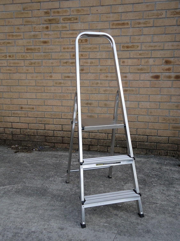 Youngman 3 Tread Atlas Trade Light Weight Aluminium Platform Step Ladder TRTI11A478