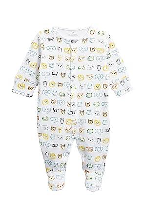 next Bebé-Niños Pijama Tipo Pelele con Estampado Animal De La Jungla (0 Meses - 2 Años) Blanco 1.5-2 Años: Amazon.es: Ropa y accesorios