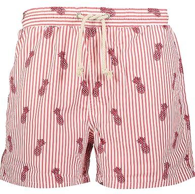 0348544732 Havacoa Men's Pineapple Swim Shorts Red: Amazon.co.uk: Clothing