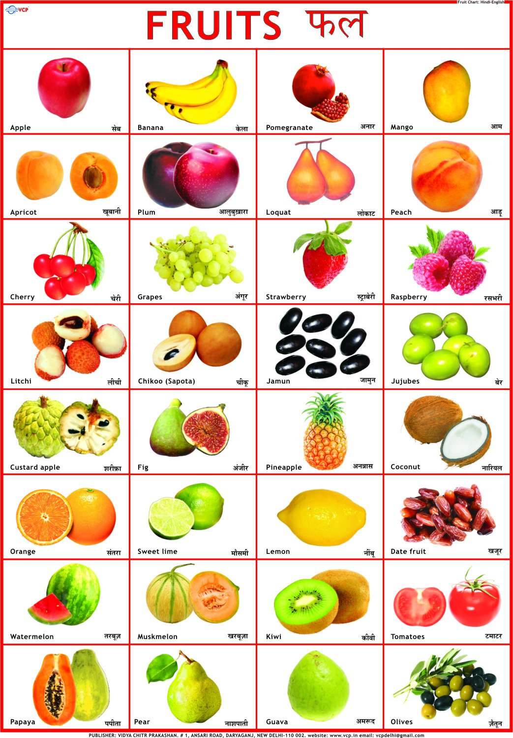 Vegetables Chart For Kids | www.pixshark.com - Images