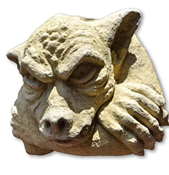 owl wall plaque stone garden ornament /</<VISIT MY SHOP/>/>