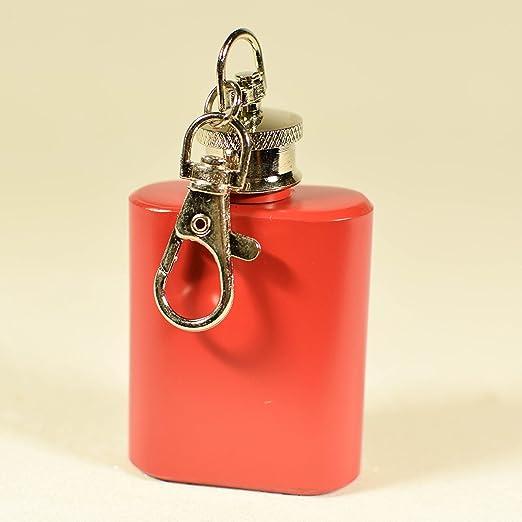 Llavero mini petaca color negro/rojo/rosa - llavero petaca ...