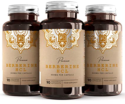 FS Berberina HCL [400 mg] todo natural | 90 Capsulas Veganas de con Extracto de Pimienta Negra Para una Mejor Absorción | Fabricado en el Reino Unido ...