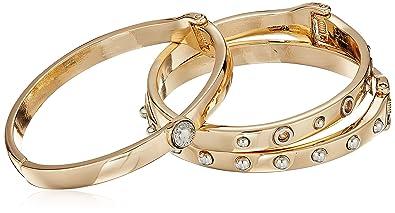 4b6a0da6976d0 Amazon.com: Guess Chic Metal Women's Hinge Bangle Bracelet, Multi ...