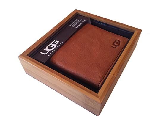 Bifold Ugg Australia Mens Wallet hand crafted Italian leather. New in gift box  sc 1 st  Amazon UK & Bifold Ugg Australia Mens Wallet hand crafted Italian leather ... Aboutintivar.Com