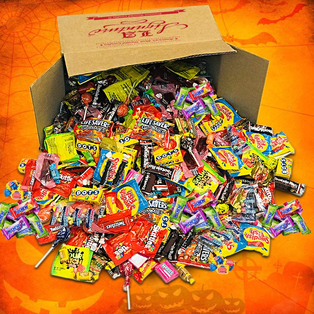 LA Signature Assorted Classic Candy - Huge PARTY MIX Bulk BOX! 11.25 lbs / 180 oz Classic Candies Like Hi-Chew Starburst Haribo Skittles Swedish Fish SweeTarts Sour Patch Tootsie over 430 pieces by LA Signature (Image #2)