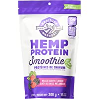 Manitoba Harvest Hemp Protein Smoothie Mix, Mixed Berry, 310g; with 15g of Protein per Serving, Non-GMO