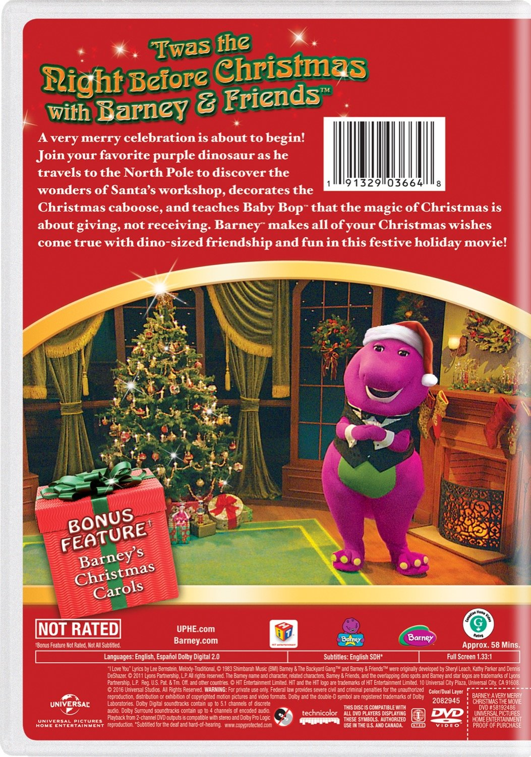 Amazon.com: Barney: A Very Merry Christmas - The Movie: Carey ...