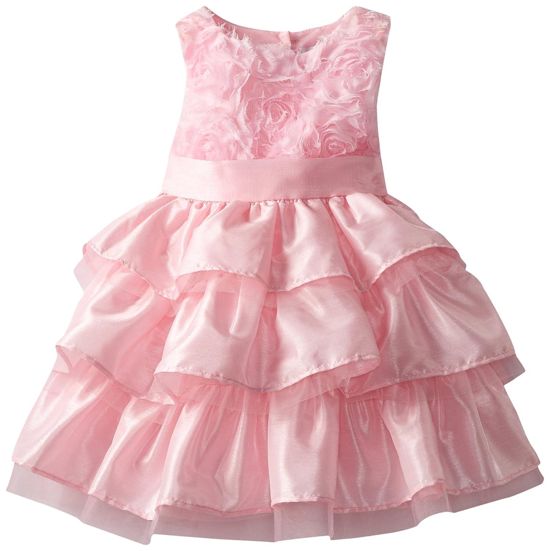 Amazon.com: Mud Pie Little Girls\' Chiffon Rosette Layered Dress ...