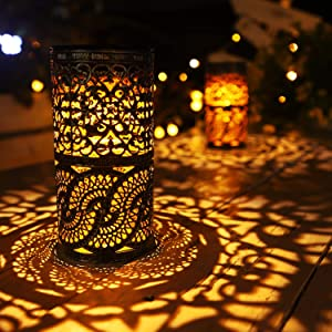 2 Pcs,Solar Lights Retro Candlestick Solar Table lamp for Indoor Outdoor Home Antique Table lamp,Solar Powered Lights Garden Yard Art Decor
