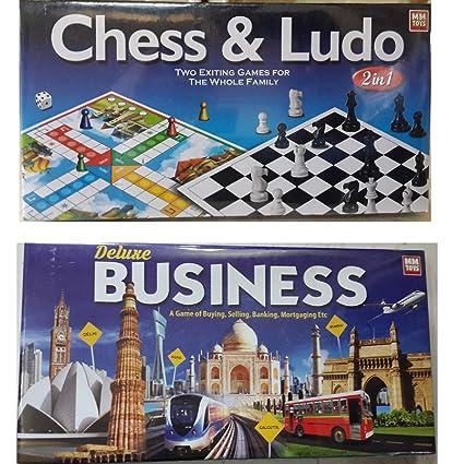 Buy NILSEA, MMT Mini Chess & Ludo (2 in 1) + Mini Business